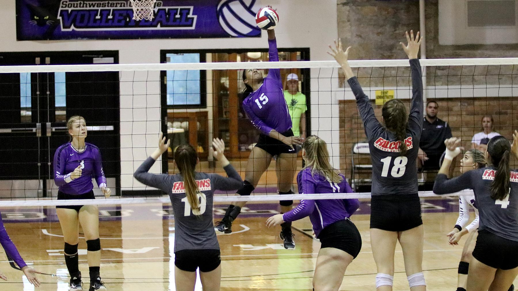 Volleyball Swept at Saint Mary