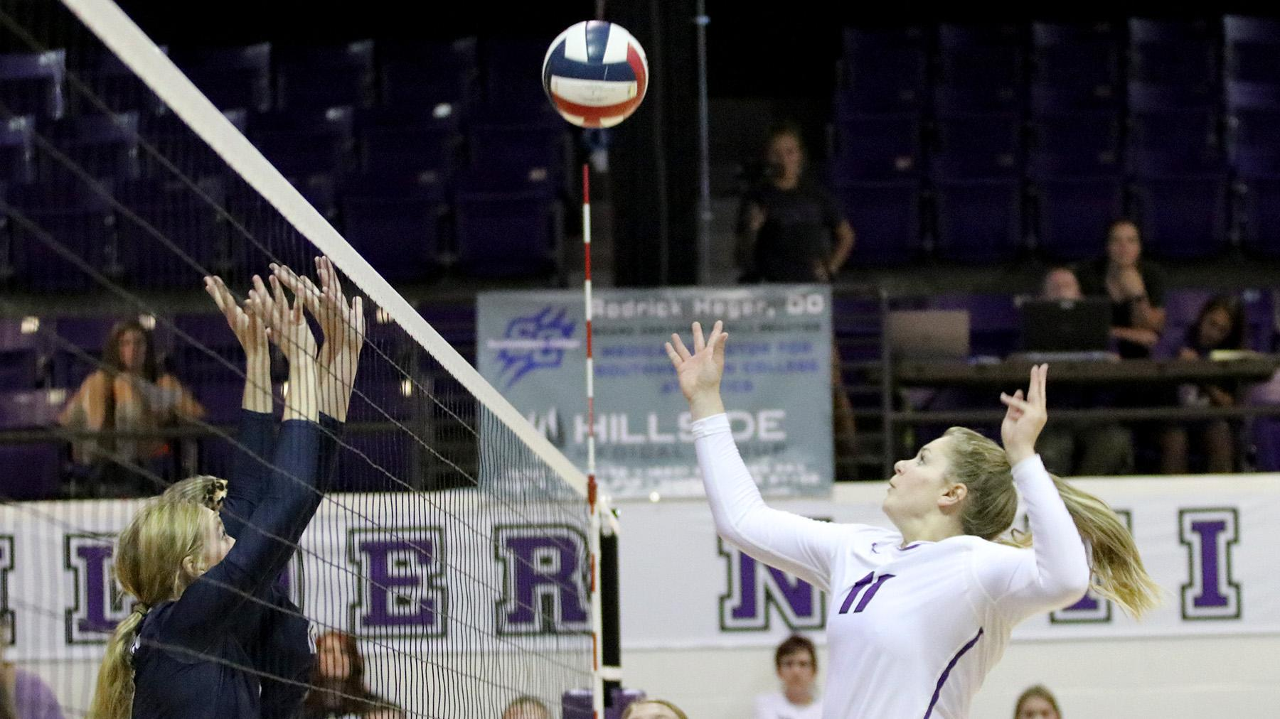 Volleyball Falls to Oklahoma Wesleyan, Friends in KCAC Fall Fling Finale
